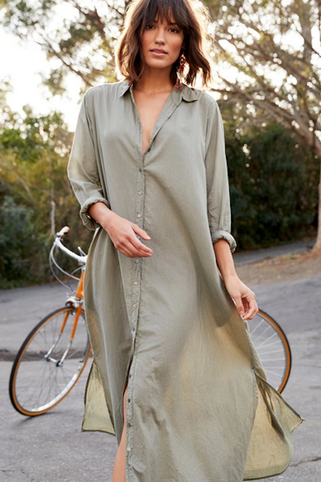 Xirena Cotton Shirt Dress - Front Cropped Image