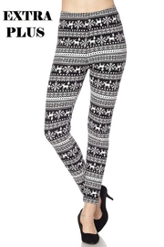 New Mix Xmas Print Legging - Product Mini Image