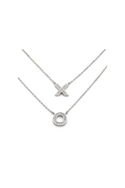 Lets Accessorize Xo Diamond Two-Tier-Necklace - Product Mini Image