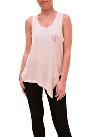 Sundry XOXO Embroidered Asymmetric Tank - Product Mini Image