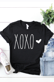 kissed Apparel XOXO Heart Graphic Tee - Product Mini Image