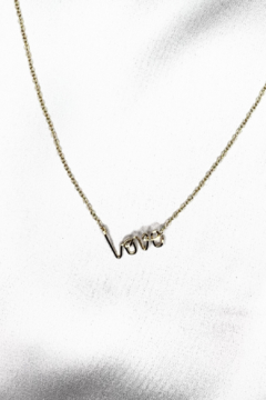Shoptiques Product: XS LOVE Pendant on Gold Filled Necklace