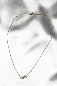 By Philippe XS LOVE Pendant on Gold Filled Necklace - Alternate List Image
