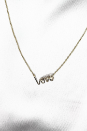 By Philippe XS LOVE Pendant on Gold Filled Necklace - Product Mini Image