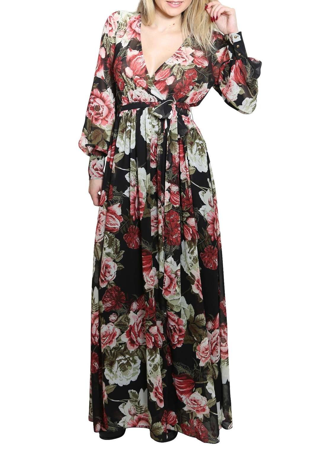 Xtaren A Line Maxi Dress - Front Cropped Image