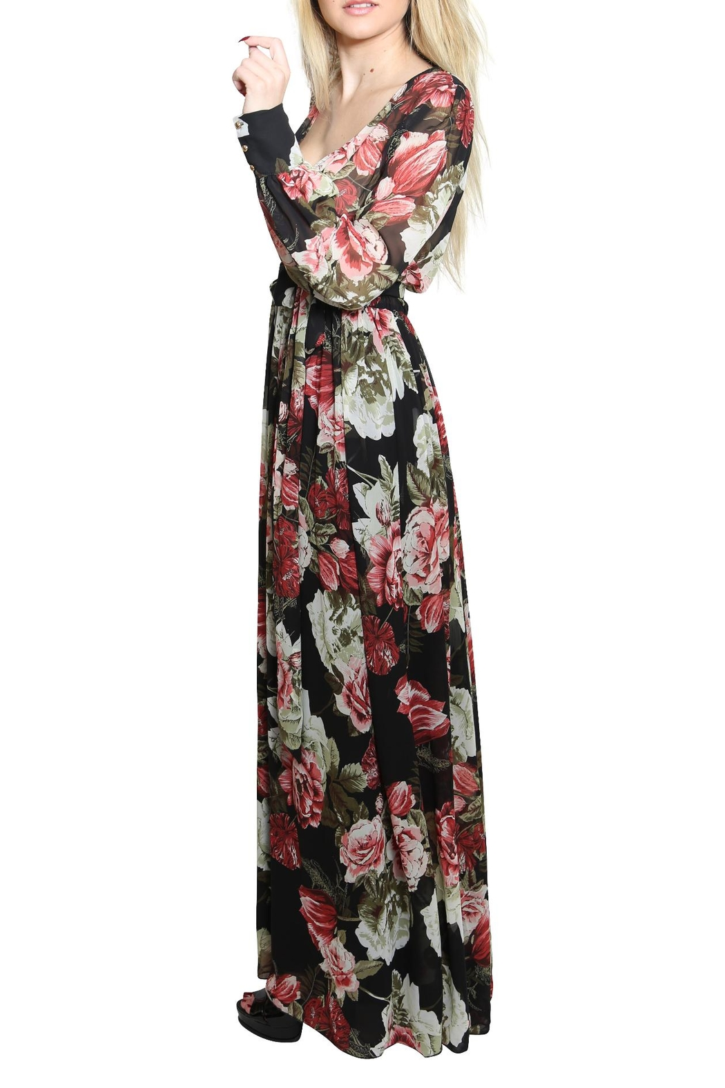 Xtaren A Line Maxi Dress - Side Cropped Image