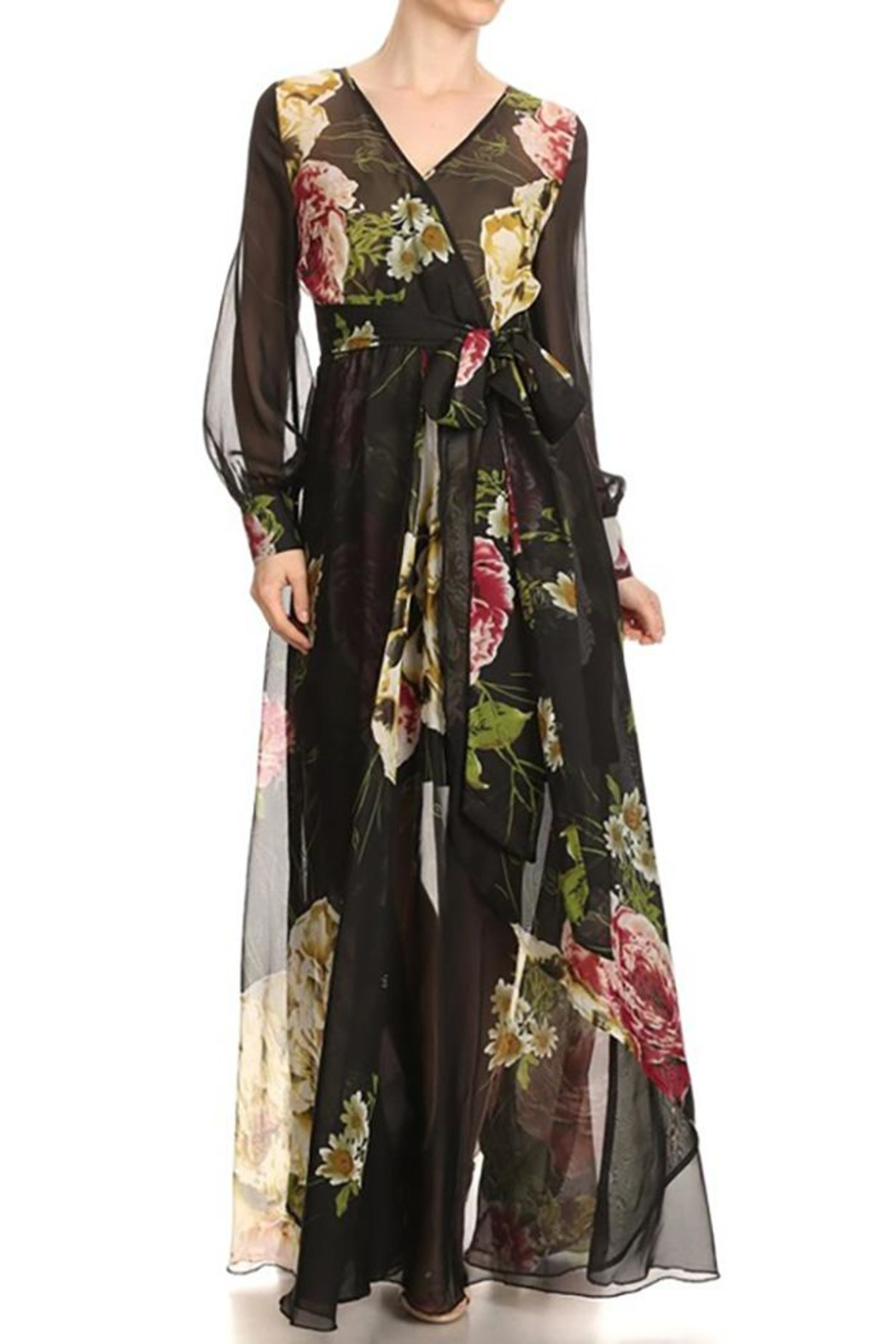 Xtaren A-Line Maxi Dress - Front Cropped Image