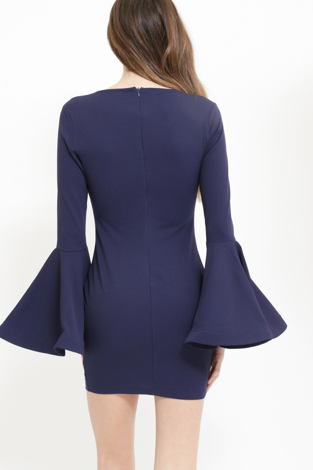 Xtaren Bell Sleeve Dress - Front Full Image