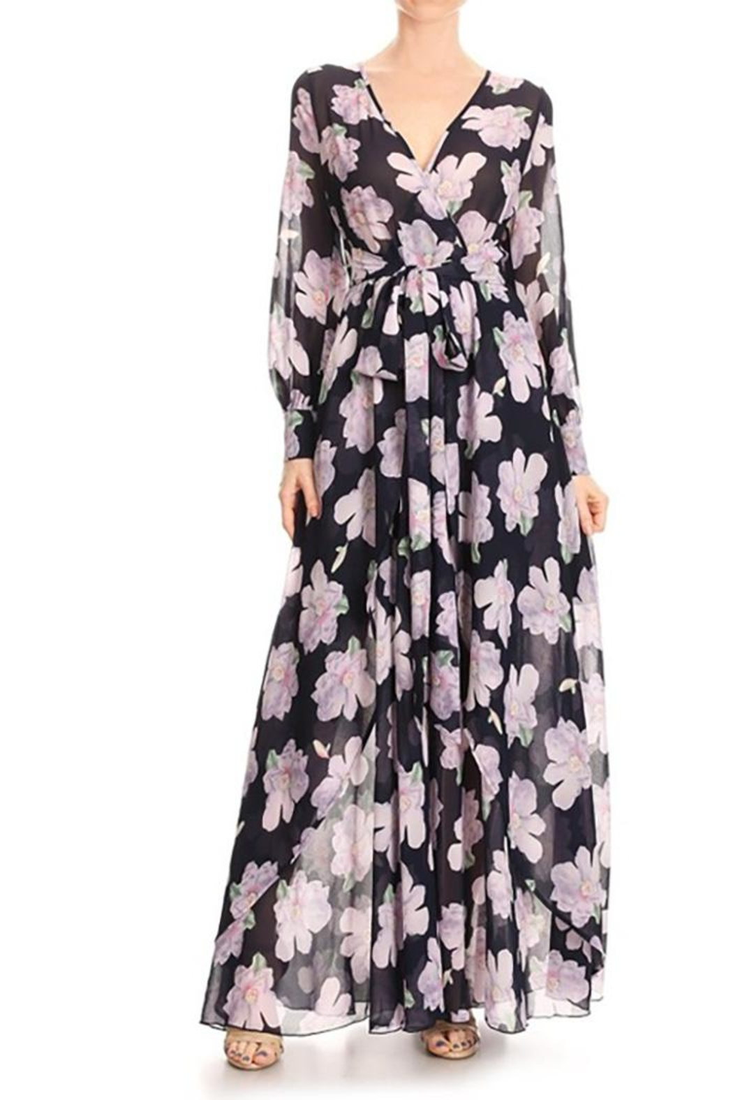Xtaren Chiffon Wrapped a-Line - Front Cropped Image
