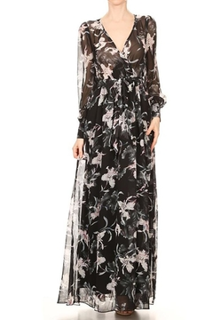Xtaren Chiffon Wrapped Maxi-Dress - Alternate List Image