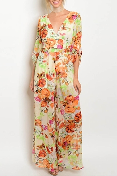 0c6c7db5155 ... Xtaren Cream Floral Jumpsuit - Product List Image