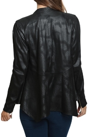 Xtaren Faux Leather Jacket - Back cropped