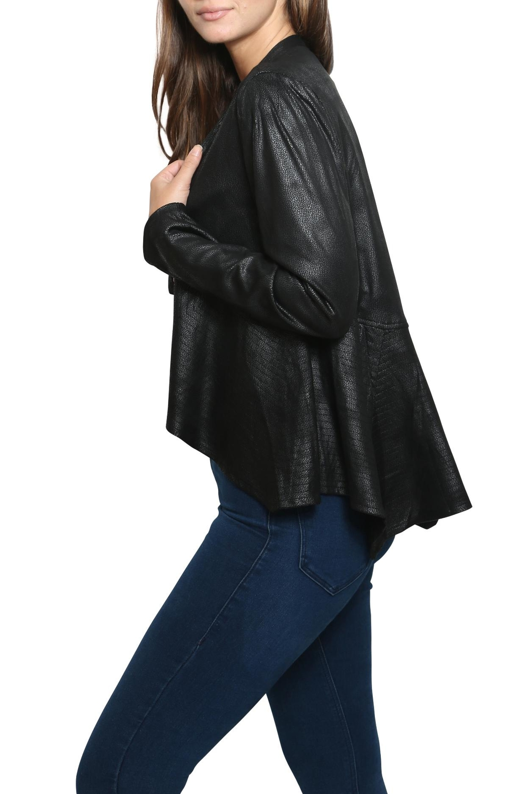 Xtaren Faux Leather Jacket - Side Cropped Image