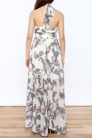 Xtaren Ivory Floral Maxi Dress - Back cropped