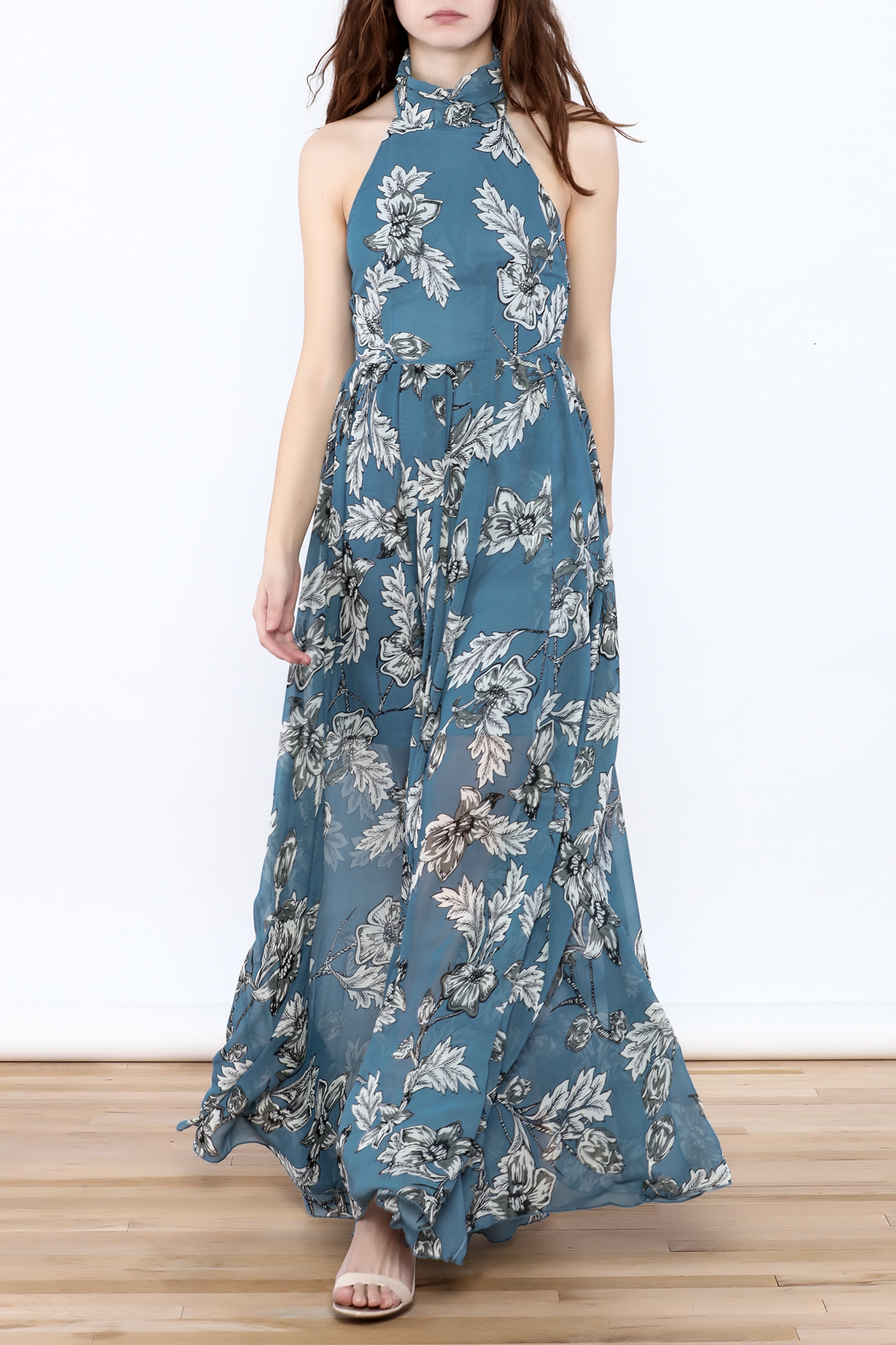Xtaren Ivory Floral Maxi Dress - Main Image