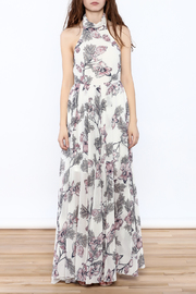 Xtaren Ivory Floral Maxi Dress - Front cropped