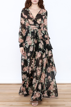 Shoptiques Product: Floral Maxi Wrap Dress