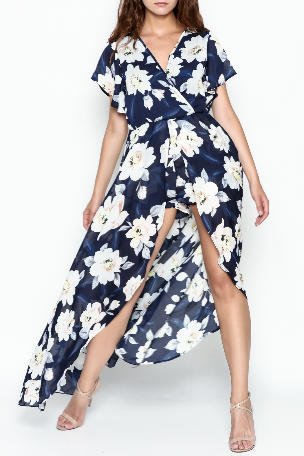 Xtaren Floral Print Maxi - Front Cropped Image
