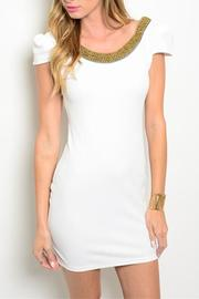 Xtaren Ivory Scooped Dress - Product Mini Image