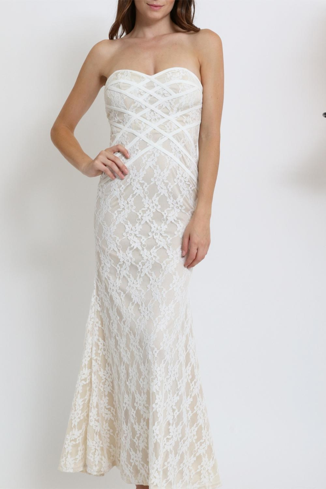 Xtaren Lace Strapless Dress - Main Image