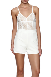 Xtaren Lace Top Romper - Product Mini Image