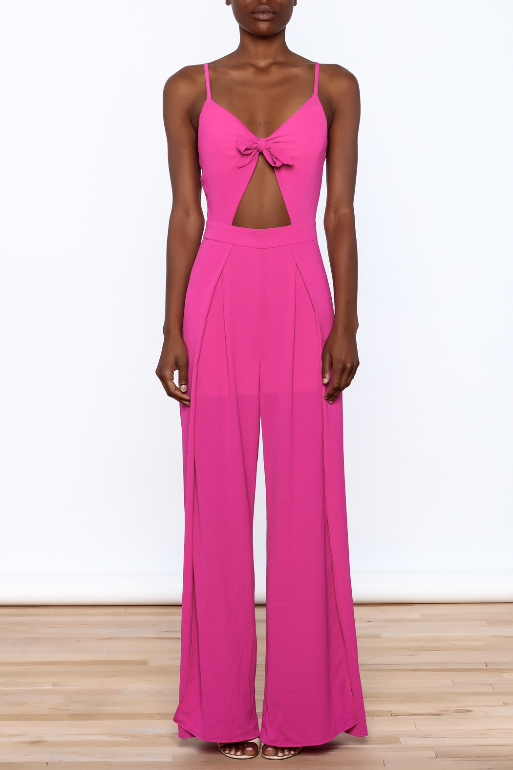 Xtaren Magenta Sleeveless Jumpsuit - Front Cropped Image