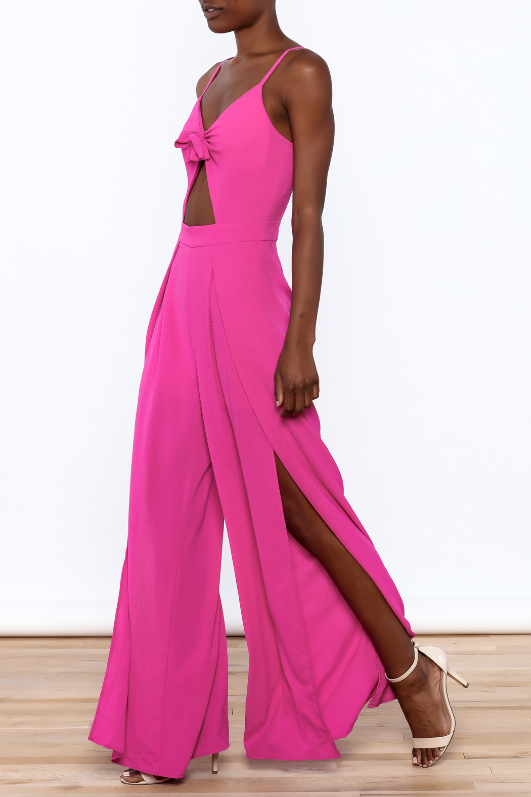 Xtaren Magenta Sleeveless Jumpsuit - Main Image
