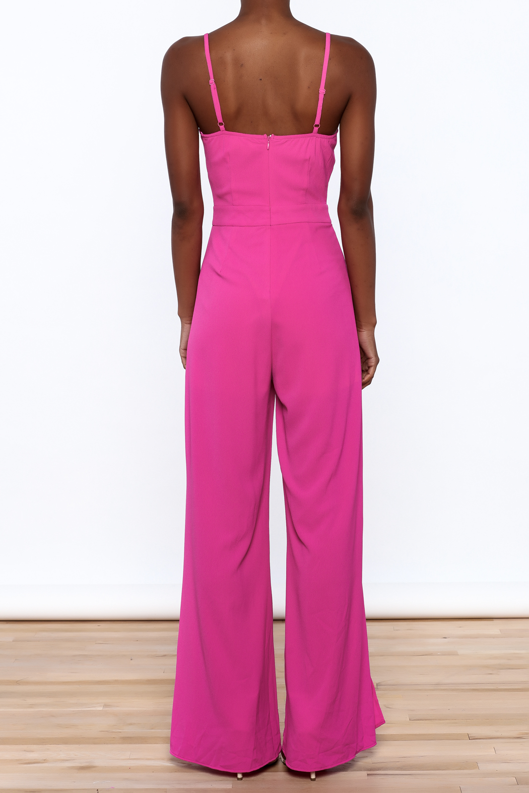 Xtaren Magenta Sleeveless Jumpsuit - Back Cropped Image