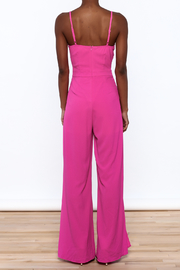 Xtaren Magenta Sleeveless Jumpsuit - Back cropped