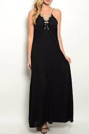 Xtaren Maxi Black Dress - Product Mini Image