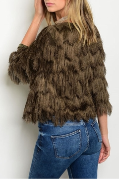 Xtaren Olive Fringe Jacket - Alternate List Image