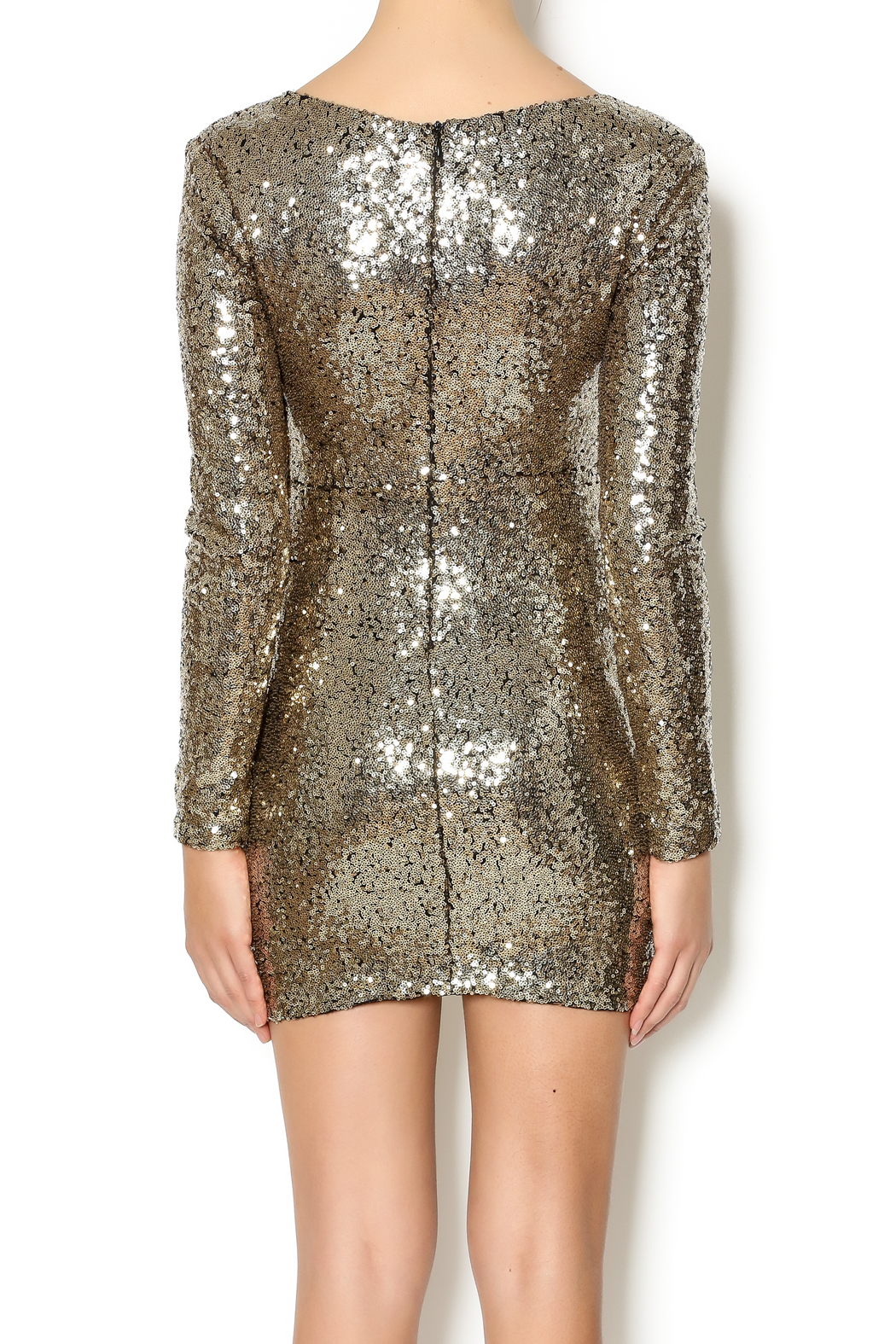 Xtaren Sequin Dress - Back Cropped Image
