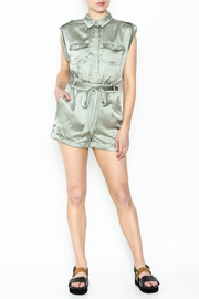 Xtaren Shiny Olive Romper - Side cropped