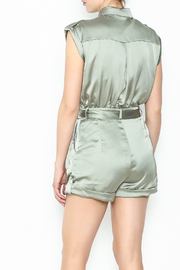 Xtaren Shiny Olive Romper - Back cropped