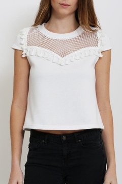 Shoptiques Product: Tassel Mesh T Shirt
