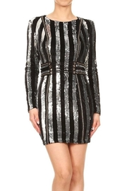 Xtaren Velvet Sequin Dress - Front cropped