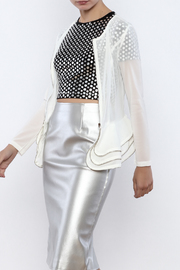 Xtaren White Mesh Jacket - Product Mini Image