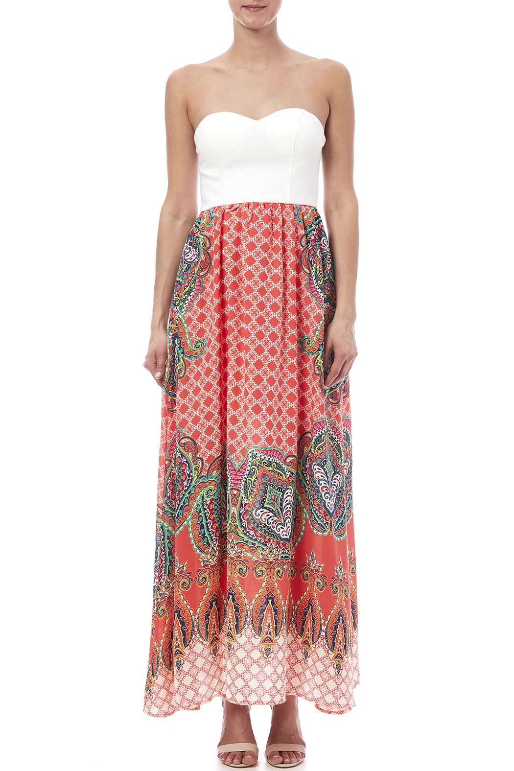 a322a20bc7 Xtaren Strapless Printed Skirt Maxi from New York by Dor L Dor ...