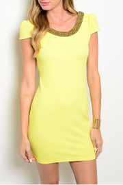 Xtaren Yellow Scooped Dress - Product Mini Image