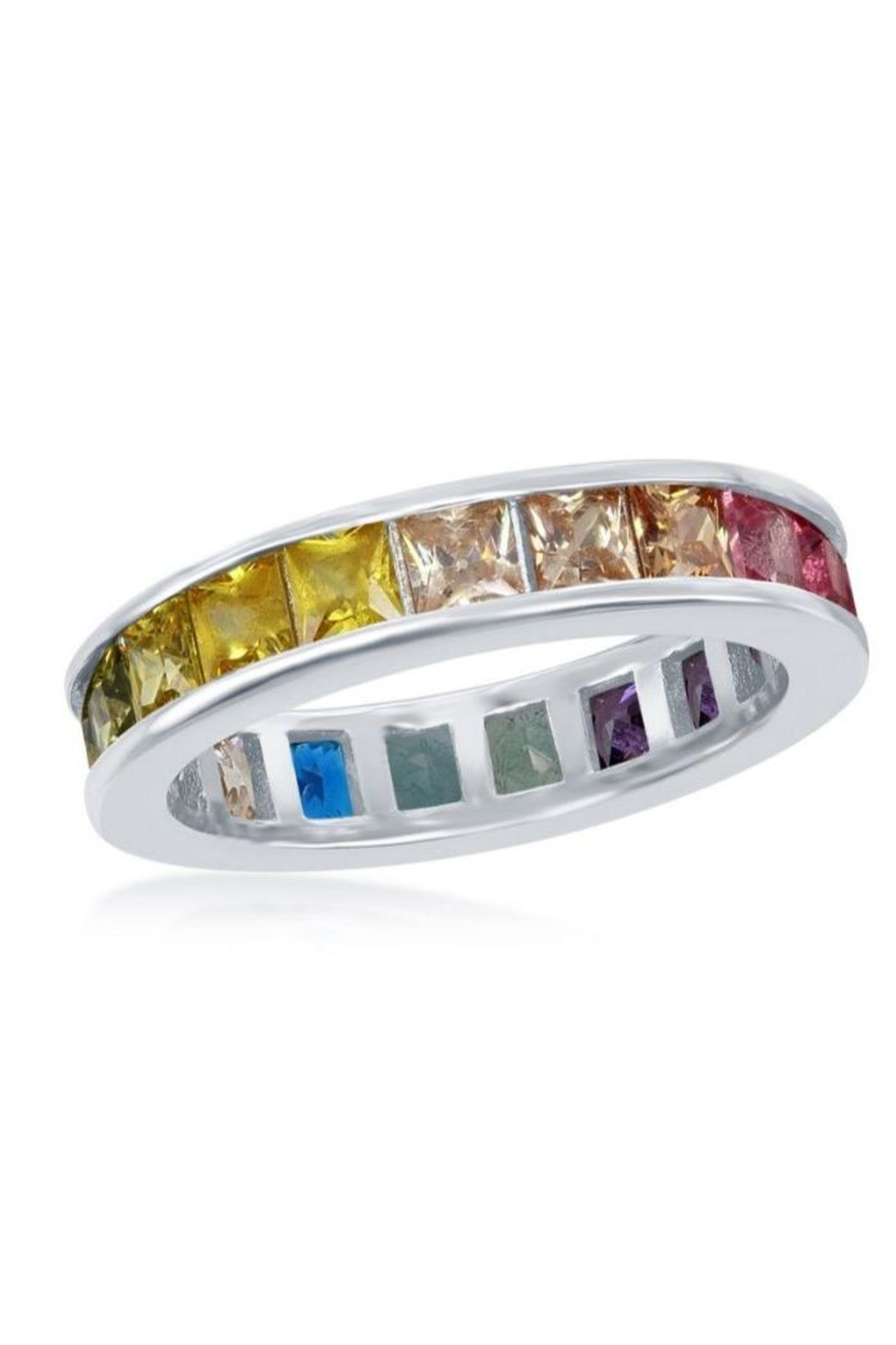 Xtras Channel Eternity Band - Front Cropped Image