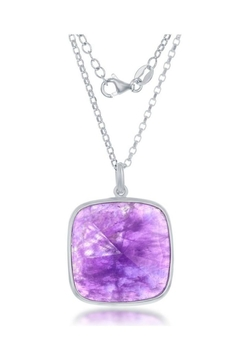 Xtras Large Amethyst Necklace - Alternate List Image