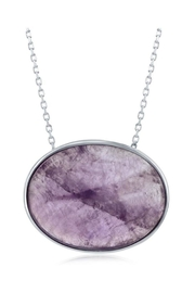 Xtras Oval Amethyst Necklace - Product Mini Image