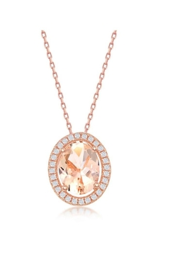 Shoptiques Product: Oval Morganite Necklace