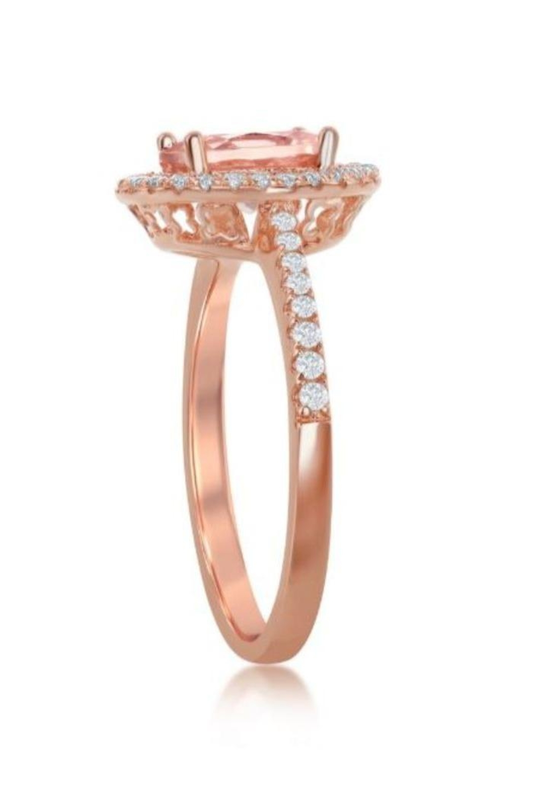 Xtras Oval Morganite Ring - Front Full Image