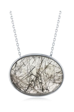 Xtras Oval Quartz Necklace - Alternate List Image