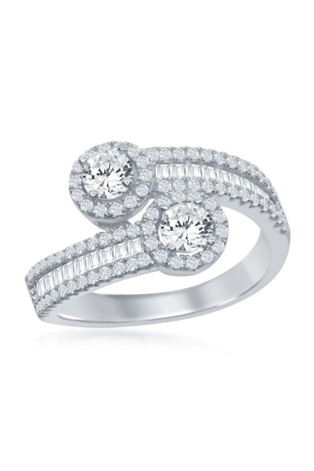Xtras Overlapping Baguette Ring - Main Image