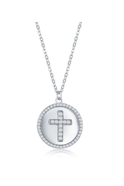 Xtras Pave Cross Necklace - Product Mini Image