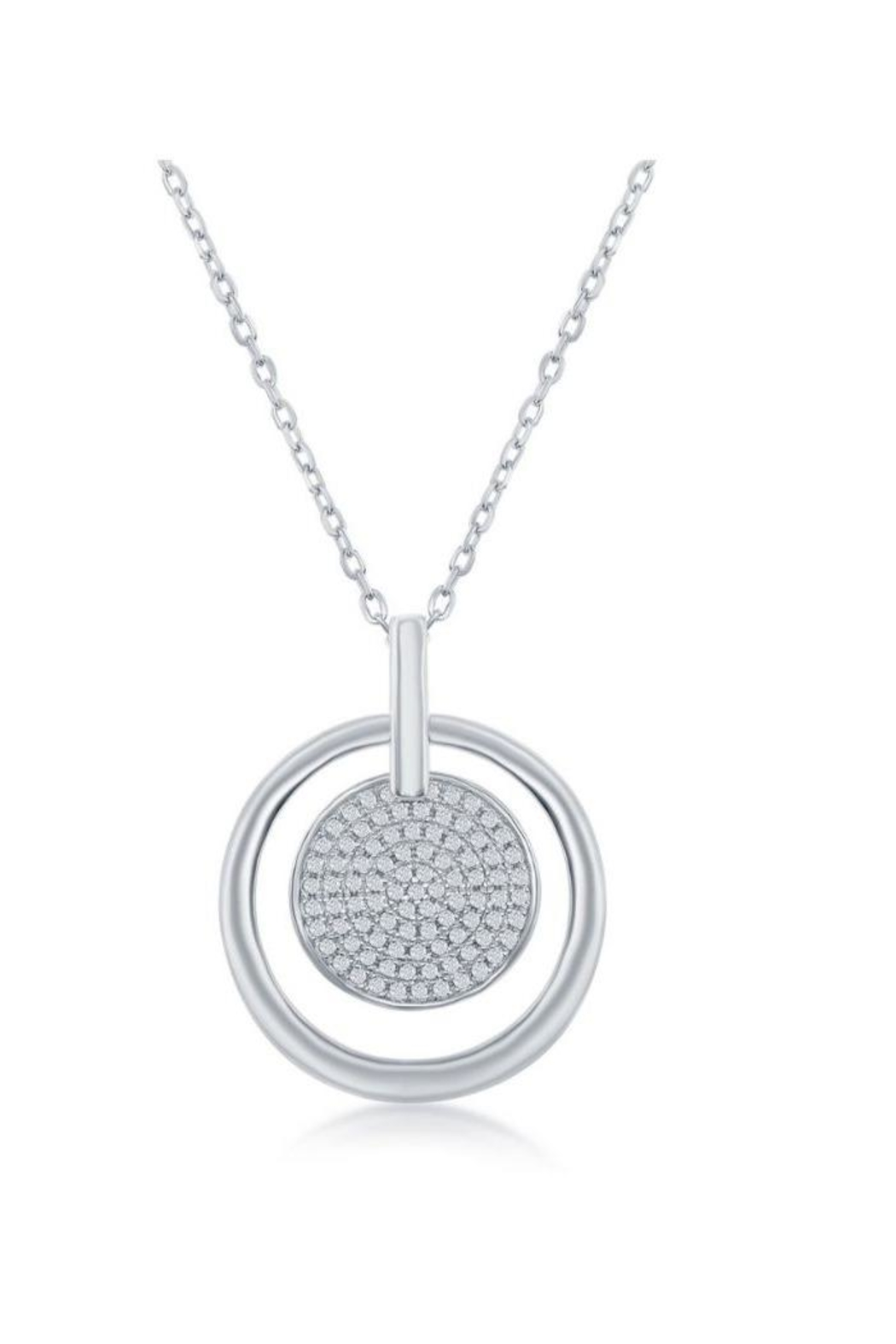 Xtras Pave Disc Necklace - Main Image