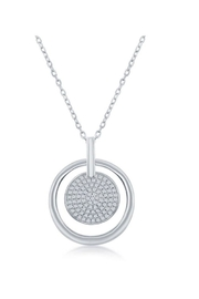 Xtras Pave Disc Necklace - Product Mini Image