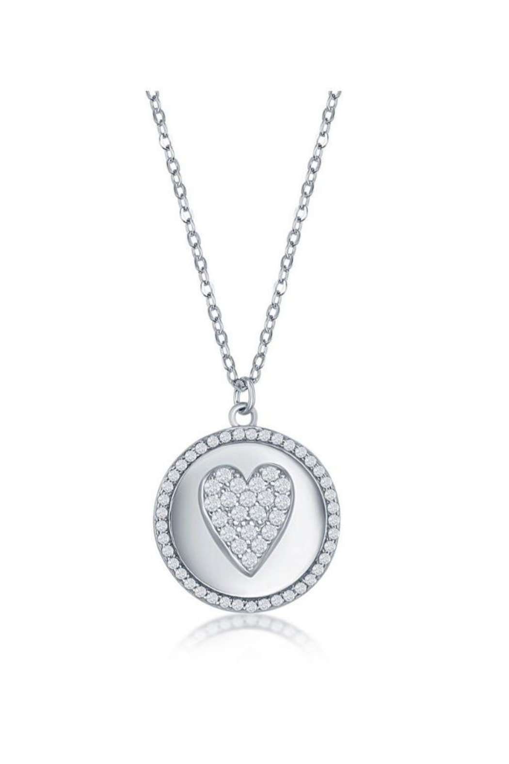 Xtras Pave Heart Necklace - Main Image